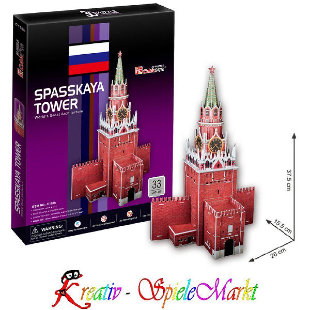 Cubic Fun 3D Puzzle Der Schiefe Turm von Pisa Italien Mittel