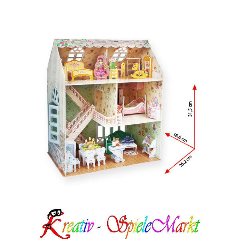 cubic fun 3d puzzle traumhaus puppenhaus kreativ spielemarkt spiel mal wieder und sei kreativ. Black Bedroom Furniture Sets. Home Design Ideas