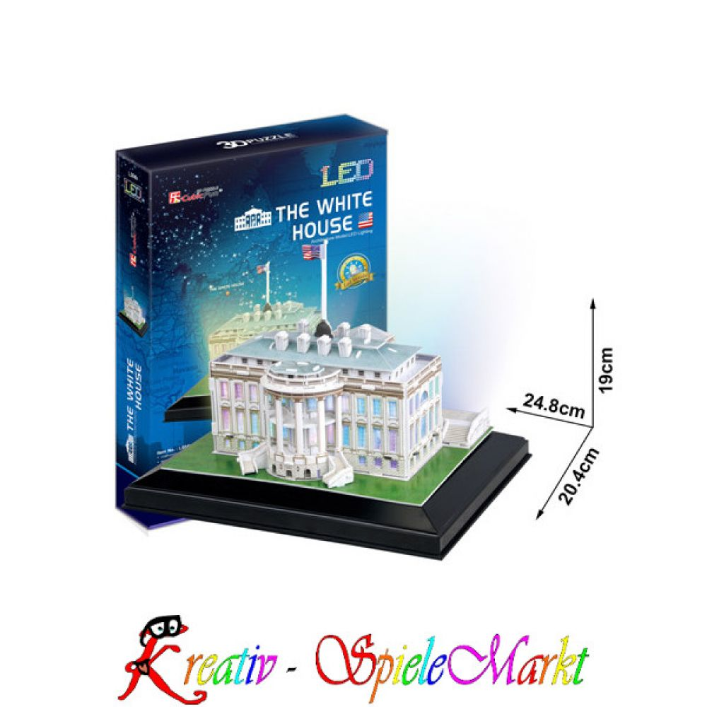 cubic fun 3d puzzle the white house wei es haus. Black Bedroom Furniture Sets. Home Design Ideas